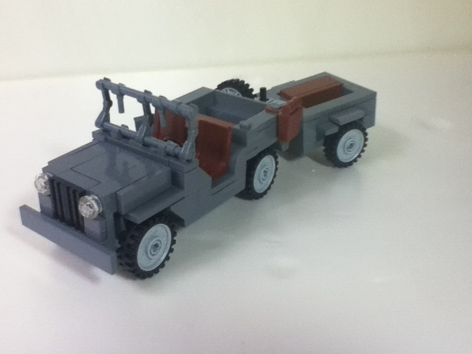 Lego Willys Jeep With Trailer