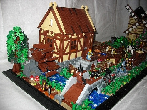 lego medieval village instructions